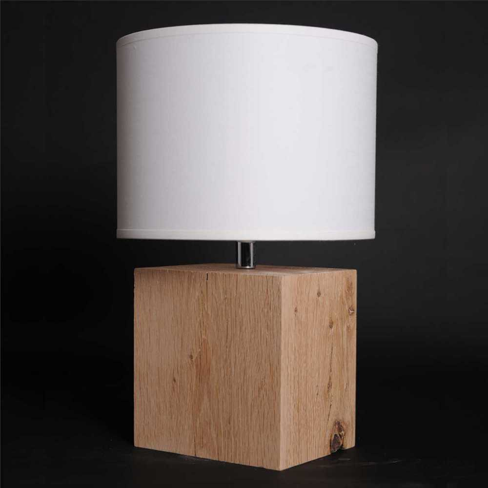 Lampe chevet en bois brut - Petite lampe de chevet ...