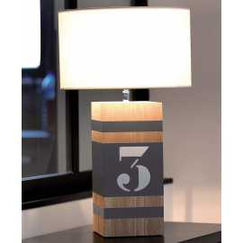 Lampe bois Up M taupe