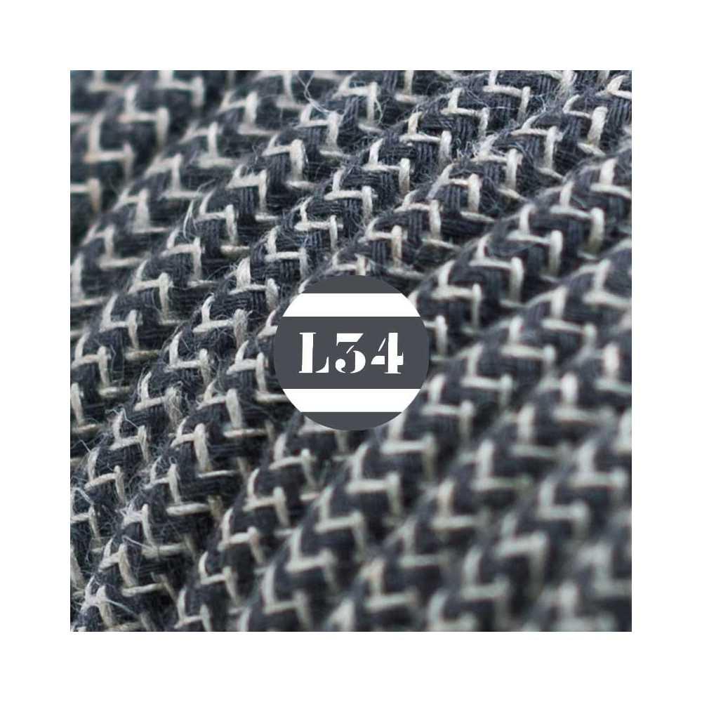 fil lectrique tissu zigzag anthracite et lin. Black Bedroom Furniture Sets. Home Design Ideas