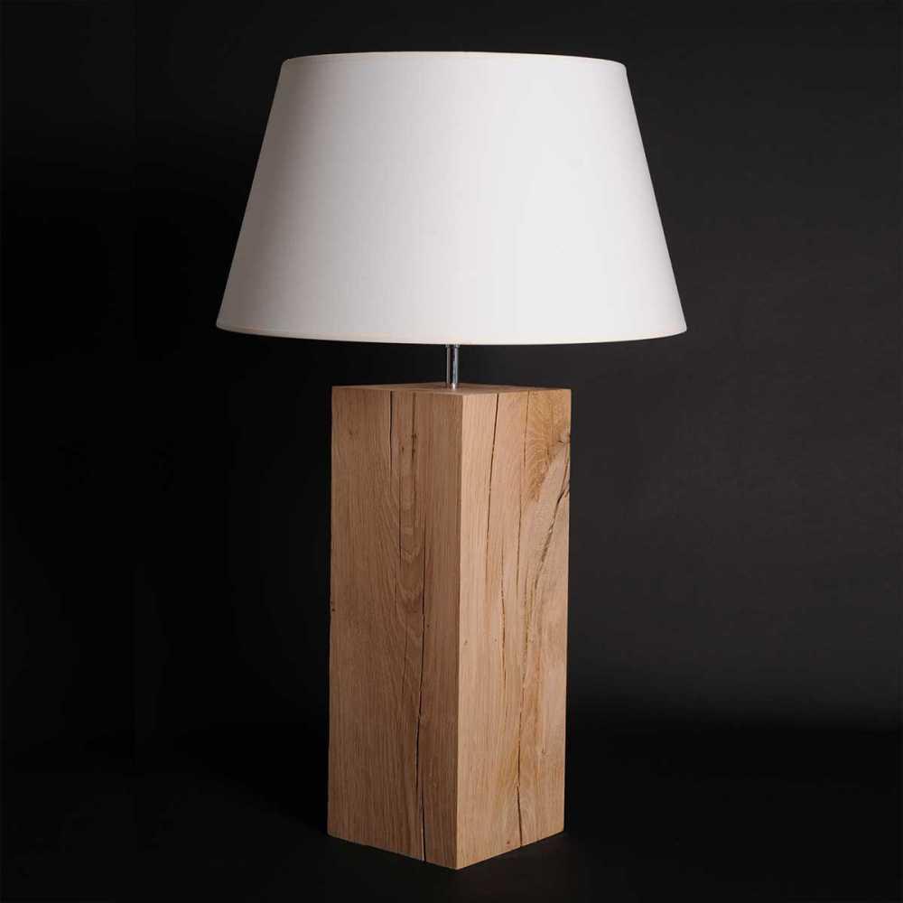 Grande lampe en bois brut l34 - Pied de lampe en bois brut a peindre ...