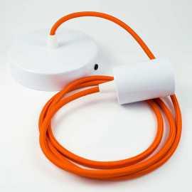 Suspension fil �lectrique tissu orange