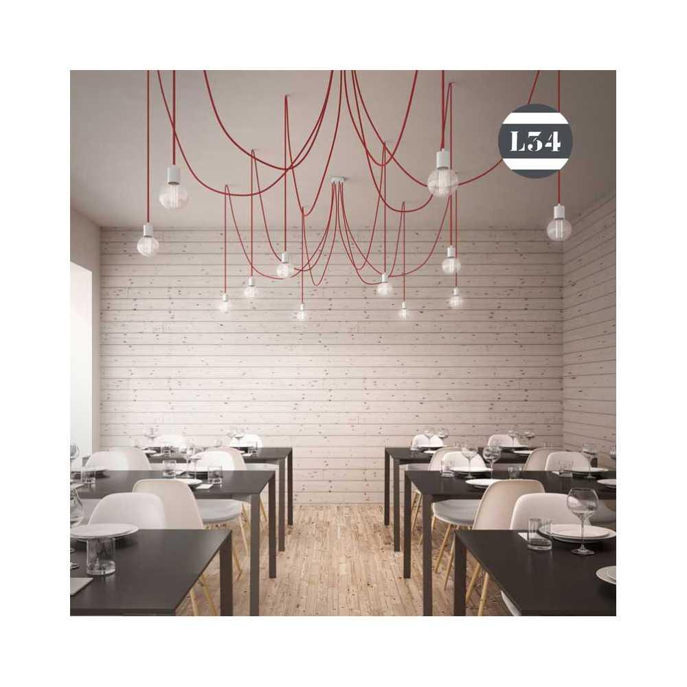 Incroyable Salle A Manger En Bois Gris #4: Suspension-6-fils-tissus-rouges.jpg