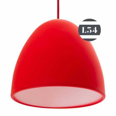 Luminaire rouge en silicone avec cordon en tissu rouge for Luminaire rouge
