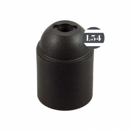 Douille lisse E27 noire thermoplastique