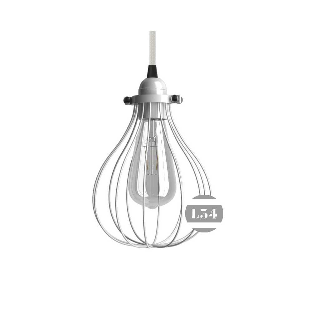 Suspension metal blanc maison design for Suspension luminaire blanc