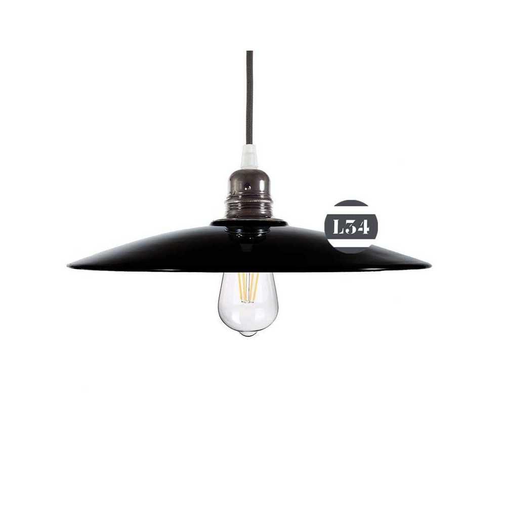 luminaire noir avec int rieur cuivre. Black Bedroom Furniture Sets. Home Design Ideas