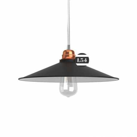 Suspension plat concave, noir