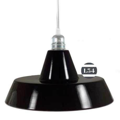 suspension en émail noir intérieur cuivre