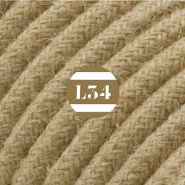 Câble électrique beige en jute