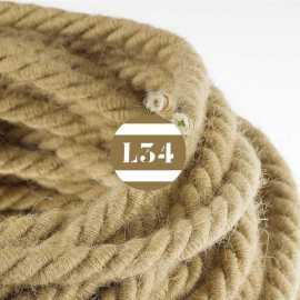 Câble électrique XL corde en jute