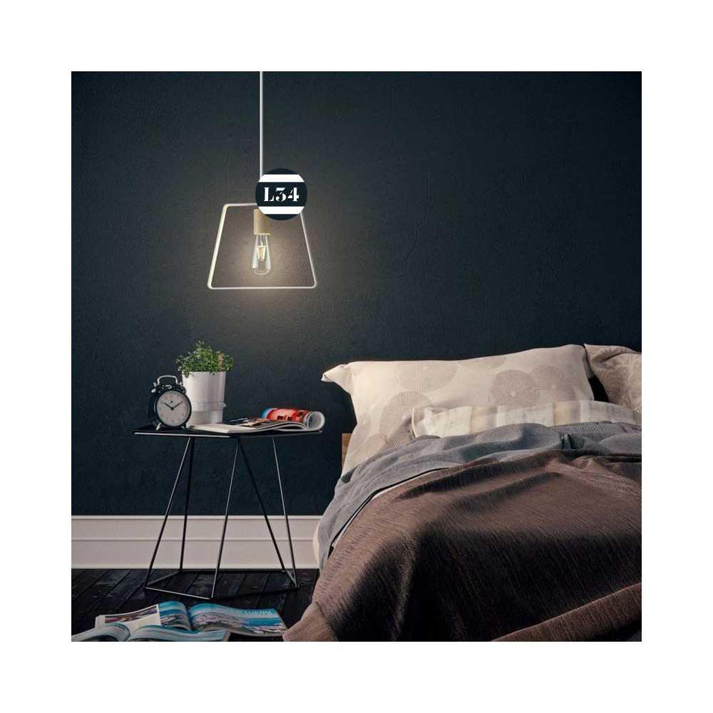 suspension trap ze en bois et m tal blanc. Black Bedroom Furniture Sets. Home Design Ideas