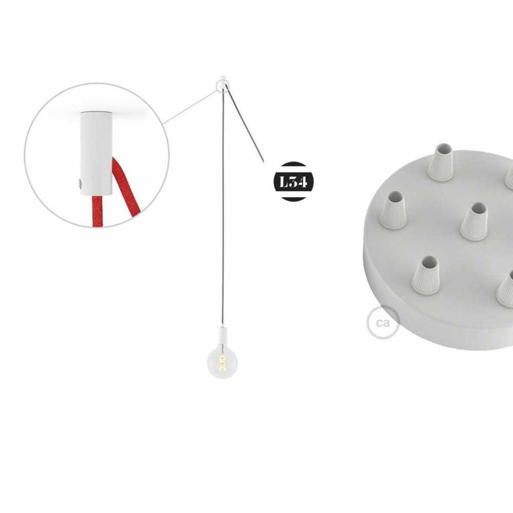Suspension avec 6 fils lectriques rouges for Suspension electrique