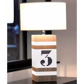 Lampe bois Up M blanc