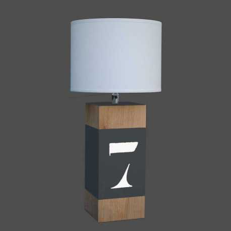 Lampe bois Up S anthracite