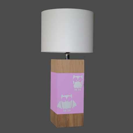 Lampe enfant UP S hibou rose