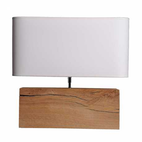 Lampe bois brut Brick XL