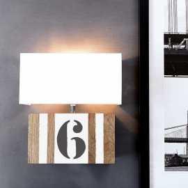 Applique bois personnalisable blanc