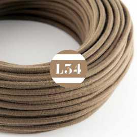 Câble électrique textile marron coton