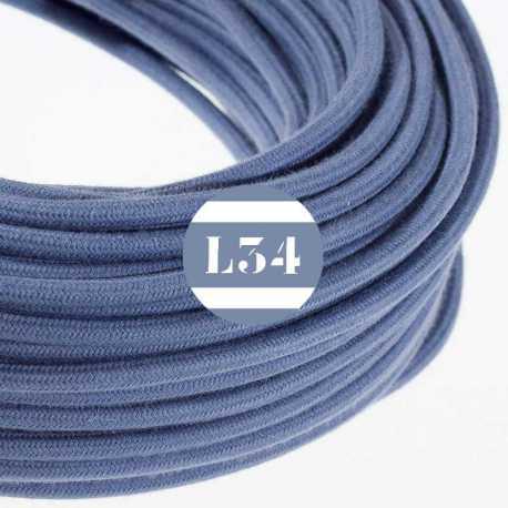 Câble électrique textile gris pierre coton