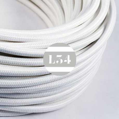 Câble électrique textile blanc soie