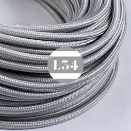 Câble électrique textile argent soie