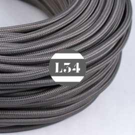 Câble électrique textile gris soie