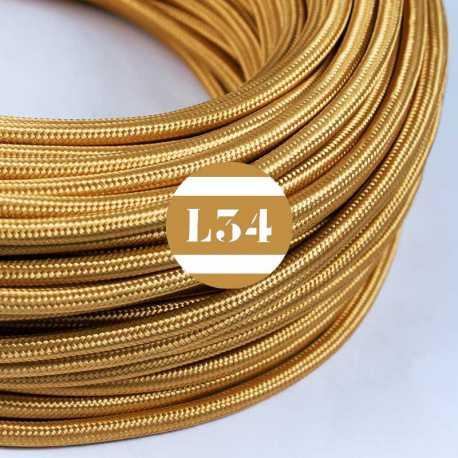 Câble électrique textile or soie