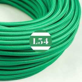 Câble électrique textile vert soie