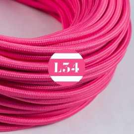 Câble électrique textile fuchsia soie