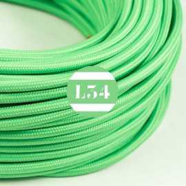 Câble électrique textile vert lime soie