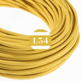 Câble électrique textile moutarde soie