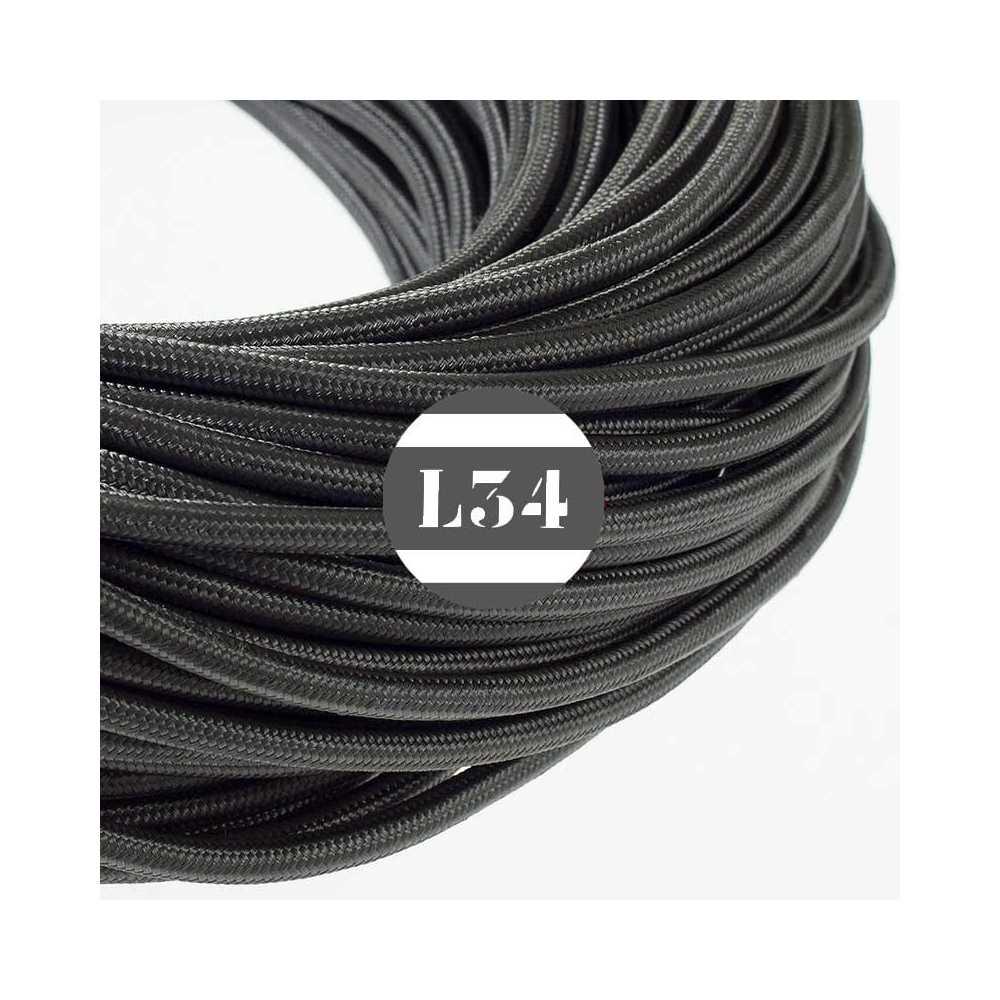 fil lectrique tissu gris fonc soie. Black Bedroom Furniture Sets. Home Design Ideas