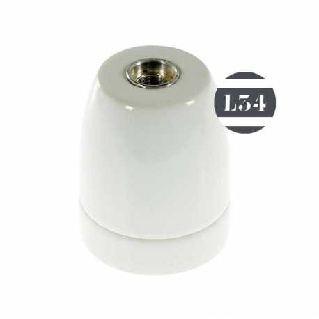 Douille E27 porcelaine blanche - 1